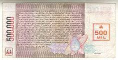 500000 Austral, Argentina's Banknote (Back), 1989 Agricultural Sector, Monetary Policy, World Coins, Rebounding, Banknote, 2d, Sign, Paper, World