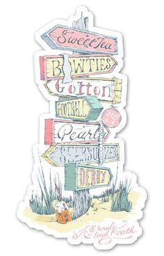 All Roads Lead South Sticker