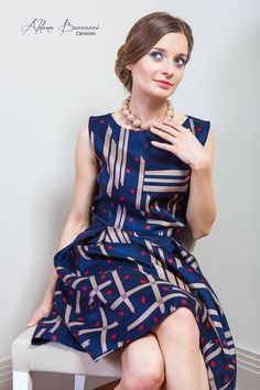 Silk dress by AldonaBarcacciDesign on Etsy, €115.00