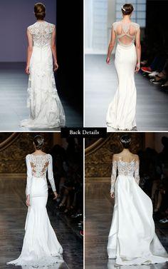 wedding dress back details from barcelona bridal week