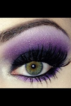 Purple makeup. this is my favorite to do <3