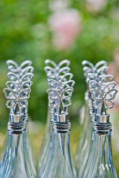 Butterfly Wine Stopper Wedding Favor // ©Weddingstar Inc, weddingstar.com // Wine Stopper Design: Stephanie Janke