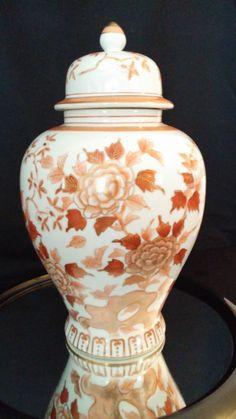 Asian Ginger Jar Decanter Vase Urn  Hand by frankiesfrontdoor, $75.00