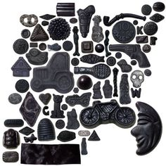"Typical Dutch candy or ""Dropjes"", liquorice in many shapes"