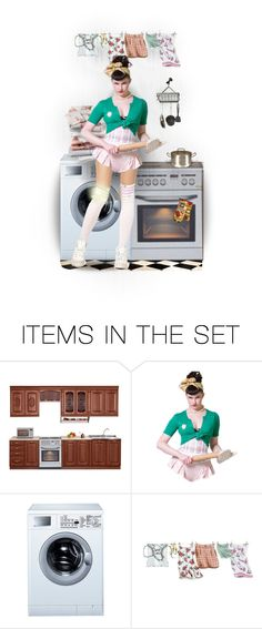 """""""""""It´s Better You Take Me Out To Dinner,Or Else..."""" :)"""" by mari-777 ❤ liked on Polyvore featuring art, kitchen, funny, doll and housewife"""