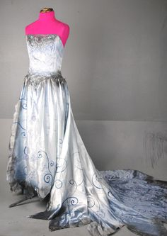 Tim Burton Corpse Bride Wedding Zombie Dress Gown Costume Emily Halloween M | eBay