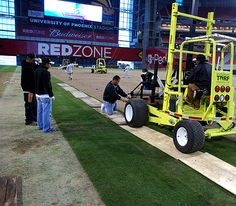 Installing the first sod in December. Evergreen Turf is the Proud Supplier of AZ Sod Grass for the Arizona Cardinals