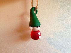 Christmas Elf Ornament - polymer clay . $10.00, via Etsy.