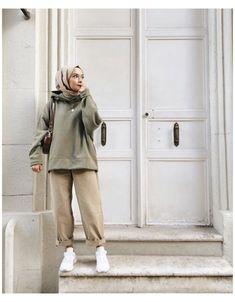 Hijab Casual, Modest Fashion Hijab, Modern Hijab Fashion, Hijab Fashion Inspiration, Hijab Chic, Muslim Fashion, Look Fashion, Casual Outfits, Ootd Hijab