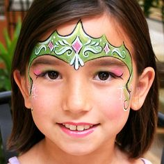 Green princess #facepainting #KCO