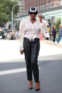 Leather (pants) | Sai Sankoh, Blogger (Because I'm Fabulous) | Essence Magazine Street Style (NYFW SS13)