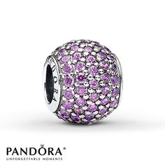 Pandora Charm Purple CZ Sterling Silver. Think I'm gonna do this colour and blue