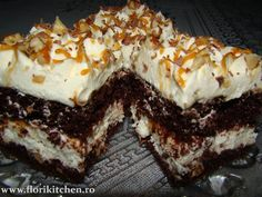 Flori's Kitchen – Pagina 5 – In Bucataria mea – Vasilescu Florentina Sweetest Day, Pie Cake, Yummy Cookies, Something Sweet, Nutella, Caramel, Food And Drink, Cooking Recipes, Ice Cream