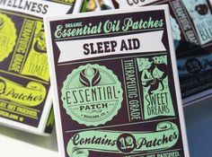 Essential Patch with therapeutic oils to help with sleep, headaches, stress relief, etc. Useful gift idea for health nuts or people who have everything.