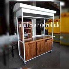 model gerobak kayu Kiosk Design, Booth Design, Car Food, Food Truck, Food Stall Design, Chicken Store, Mobile Coffee Shop, Coffee Carts, Thai Tea