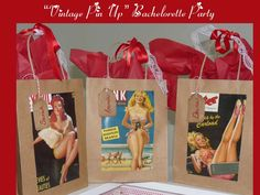 Vintage Pin-Up Bachelorette Party, by A Charming Fête | CatchMyParty.com