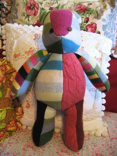 recycled felted Wool Sweater Bear 2 by nzaloo, via Flickr
