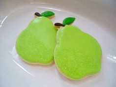 pears. cute with the sugar sprinkles