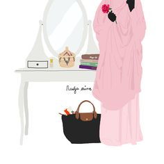 Illustration Jilbab beauty muslimah  Muslimah
