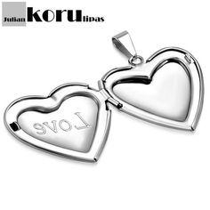 Sydän Kaulakoru Avattava Love-50cm - Julian Korulipas Heart Ring, Enamel, Rings, Accessories, Jewelry, Vitreous Enamel, Jewlery, Bijoux, Enamels