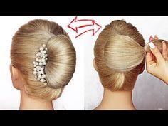😱 Super simple & perfect for long, medium & shoulder length hair - Hair Styles For School Easy Hairstyles For Long Hair, Party Hairstyles, Braided Hairstyles, Wedding Hairstyles, African Hairstyles, Beach Hairstyles, Men's Hairstyle, Wedding Updo, Braided Updo