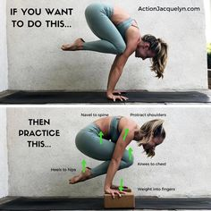 How-To Crane Pose Tips by @ActionJacquelyn #yogagoals #aloyoga