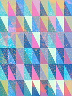 Candy Triangles Art Print by Schatzi Brown  #triangles #pastel #geometric