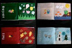 Seasons quiet book - templates on MS.com