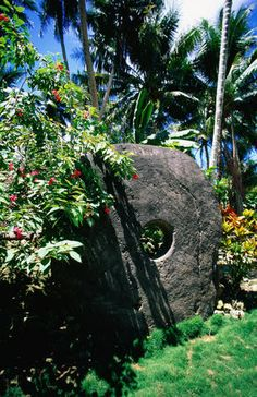 Stone money, That can be seen on the Island of Yap I want to see this one day