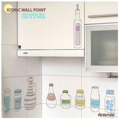 Vinilos decorativos. - Bottles Wall Stickers.
