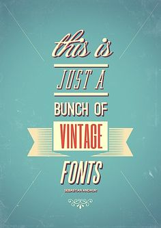 this is just a bunch of vintage fonts