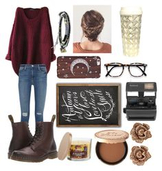 """""""Autumn"""" by chaoticstars ❤ liked on Polyvore featuring Frame Denim, Dr. Martens, Kate Spade, SONOMA Goods for Life, Too Faced Cosmetics, Impossible, Effy Jewelry and NAKAMOL"""