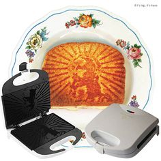 Grilled Cheesus Sandwich Press.  Toast the face of Jesus on your grilled cheese sandwiches.