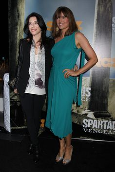 Lucy Lawless and Jaime Murray