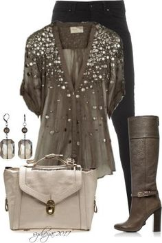 """Black and Brown"" by sydneyac2017 on Polyvore by Kelseyy"