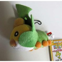 Pokemon 2011 Banpresto UFO Game Catcher Prize My Pokemon Collection Series Sewaddle Plush Keychain