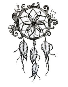 Dreamcatcher Drawing. 8x10 Pen and Ink Print. by MissNightmareArt, $18.00