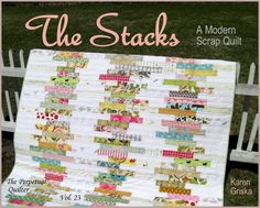 The Stacks Quilt Pattern, Modern Scrap Quilt Pattern, Easy Quilt, PDF, Immediate Delivery, qtm