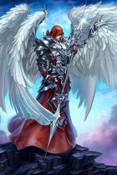 El arcángel Fantasy Male, High Fantasy, Fantasy Warrior, Angels Among Us, Angels And Demons, Dark Souls, Angel Artwork, Angel Warrior, Ange Demon