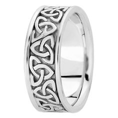 this is a cool ring. Trinity Celtic Knot Wedding Ring