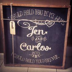 Custom hand painted chalk art www.framedinlove.etsy.com