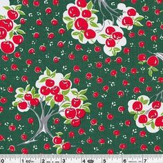 Japanese apple fabric