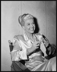 Doris Day knitting. If it's good enough for Doris Day...