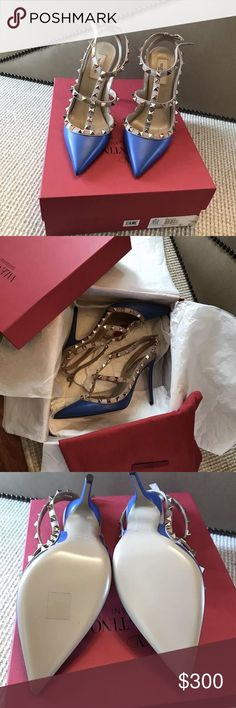 Women's Valentino Rockstud Pumps If you are interested in buying this item, contact me via telephone 201-310-9371. Also, keep in mind that we take payments through a optional third party application Valentino Shoes Heels