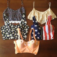 these would be cute with high-waisted pants or maxi skirts or shorts for summer