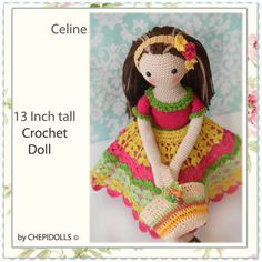 CROCHET DOLL Finished doll doll in handmade by chepidolls on Etsy
