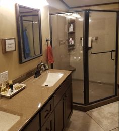 Shower Gallery Onyx Shower, Bathroom Shower Panels, Laundry In Bathroom, Color Schemes, Vanity, Mirror, Gallery, Furniture, Home Decor
