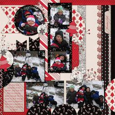 Kit: Peppermint Christmas by Fit 2 Be Scrapped Template: We Are Memory Keepers: Our Dates Templates by AKDesigns