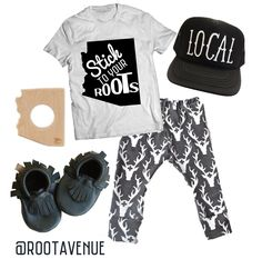 AZ arizona Stick To Your Roots // Root Avenue baby & kids Tshirt // Flatlay outfit