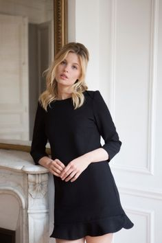 Intemporels - Robe Georgina noire